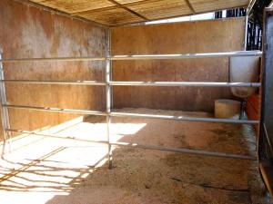 inside stall